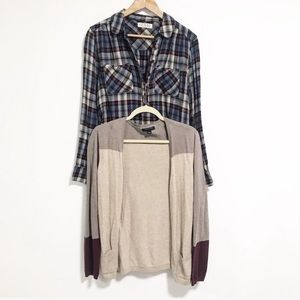 Bundle of two. Lot. Cardigan and button up